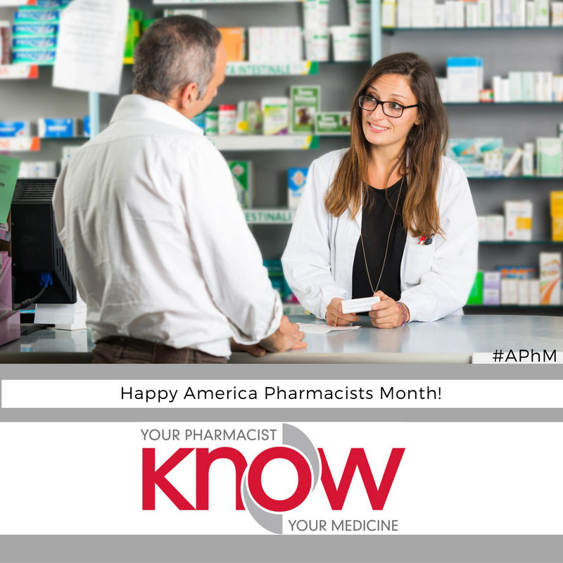 """""""Know Your Pharmacist, Know Your Medicine"""" – American Pharmacists Month (#APhM)"""