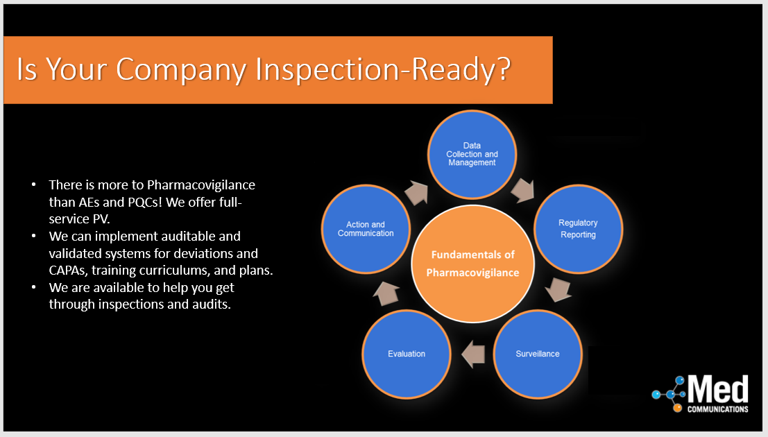 Is your Pharmacovigilance Department inspection-ready?